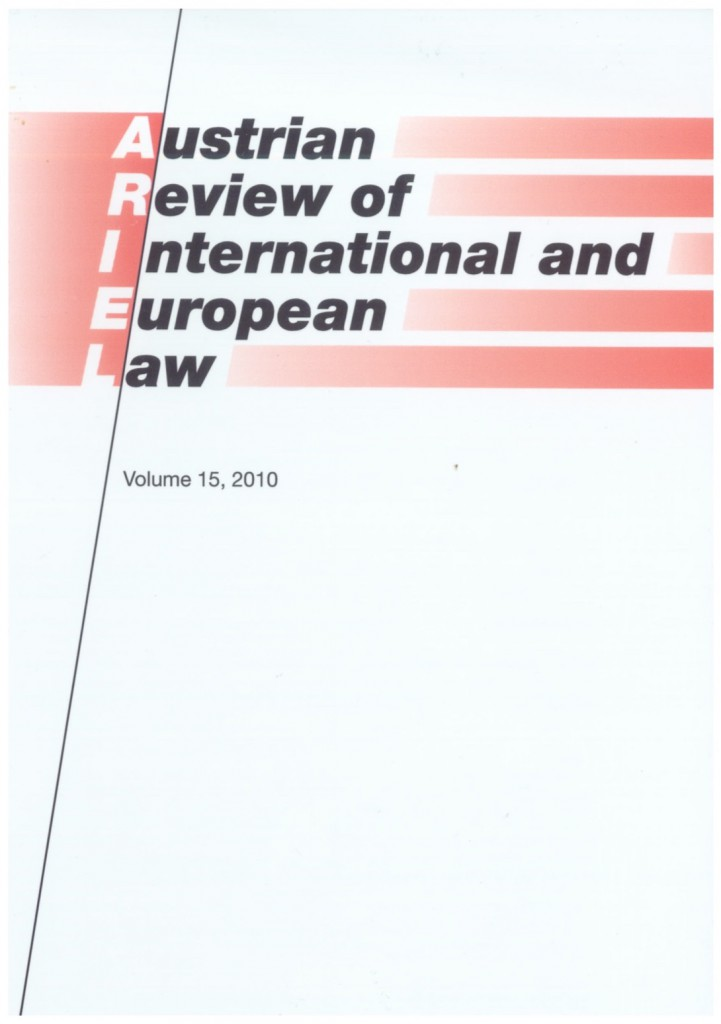Austrian Review of European and International Law