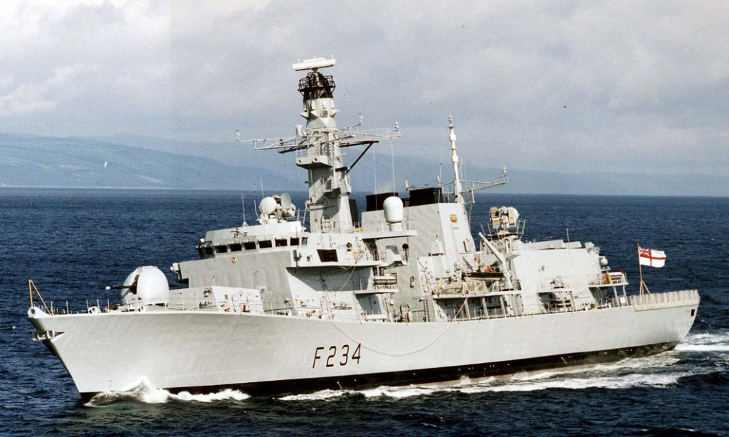 HMS Iron Duke, pictured in 1999, is to be deployed in the Baltic. Photograph: Royal Navy/PA