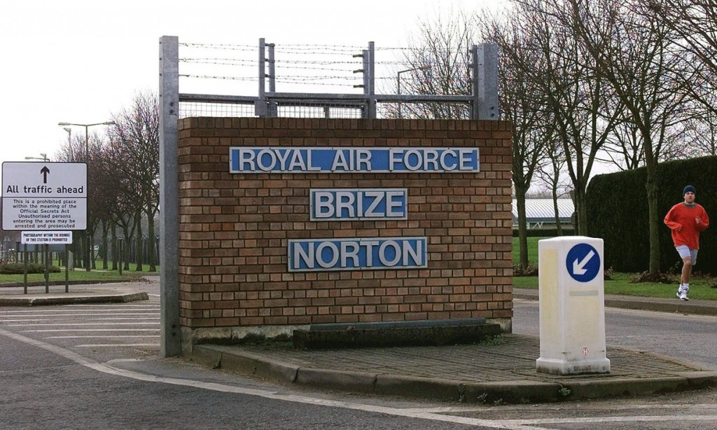 It is thought that the flights probably started or ended at the RAF's Brize Norton base in Oxfordshire. Photograph: Dave Caulkin/AP