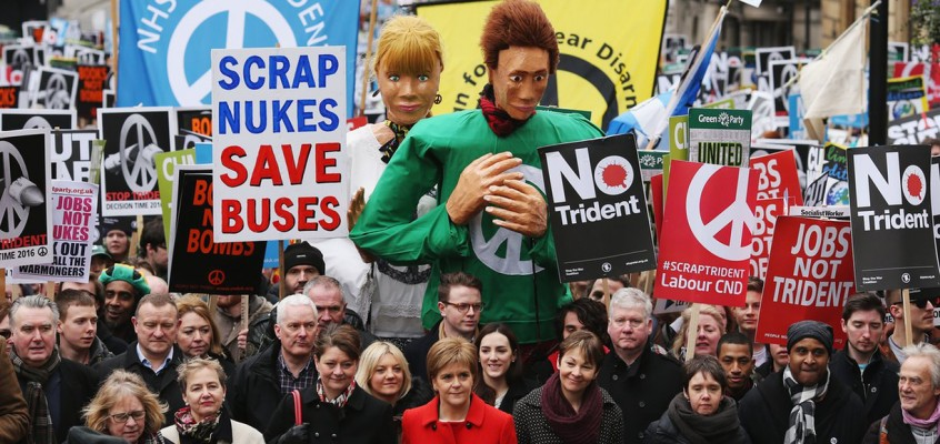 Trident rally is Britain's biggest anti-nuclear march in a generation