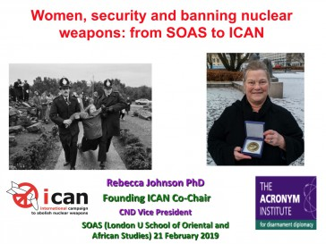 Women, security and banning nuclear weapons